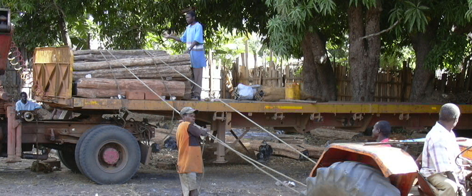 04. Loading of logs for long distance transport