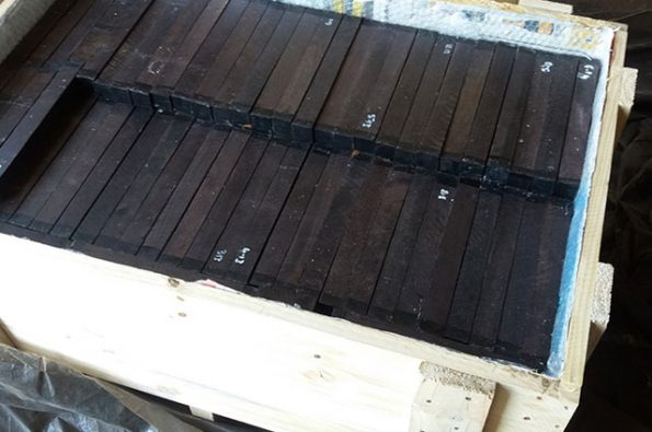 17. Musical grade African Blackwood dated for export