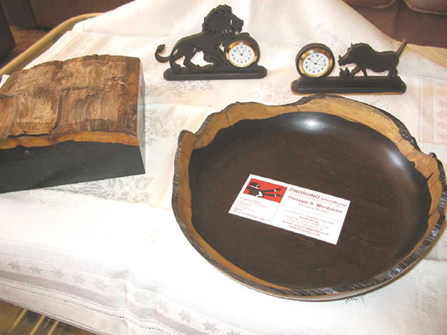 20. Top of the log of African Blackwood as bowl blank