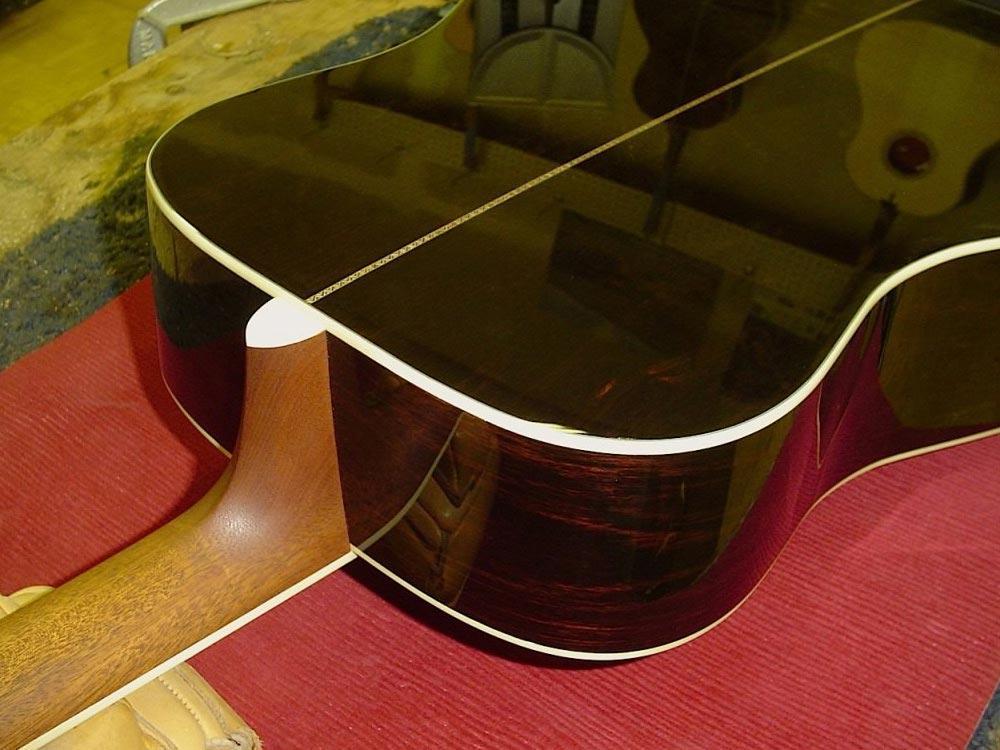 prosono wood guitar back