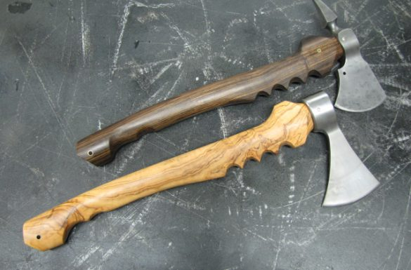Black chacate & Wild Olive Axes
