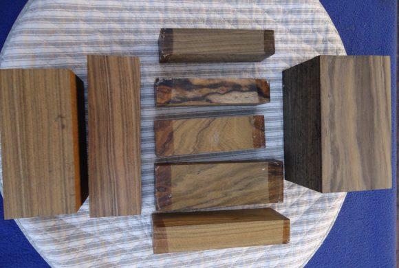 black chacate knife handle blocks