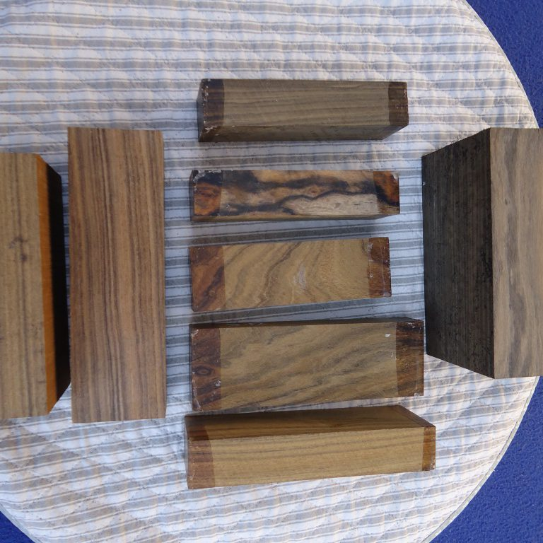 Black chacate knife handles and blocs