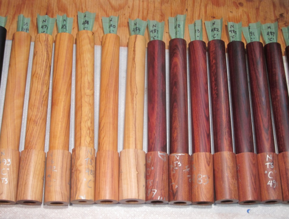 Large blanks of African Blackwood, Wild olive and Mopane for flutes