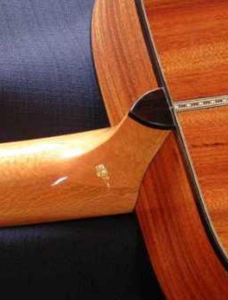 Mopane Guitar back back grain details