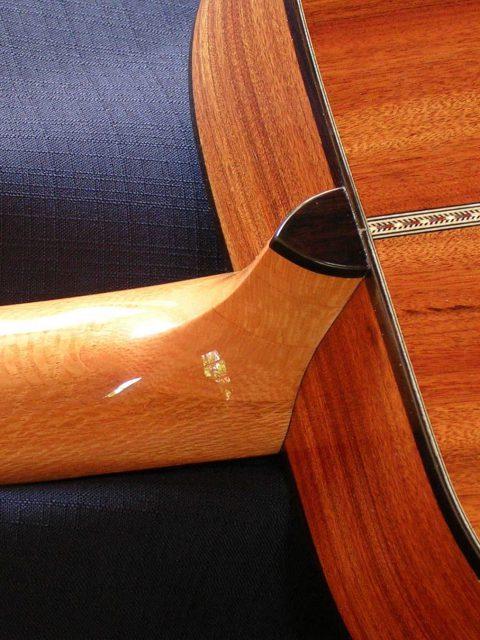 Mopane details guitar back