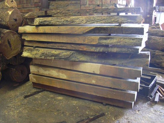 Slabs & logs of wild olive