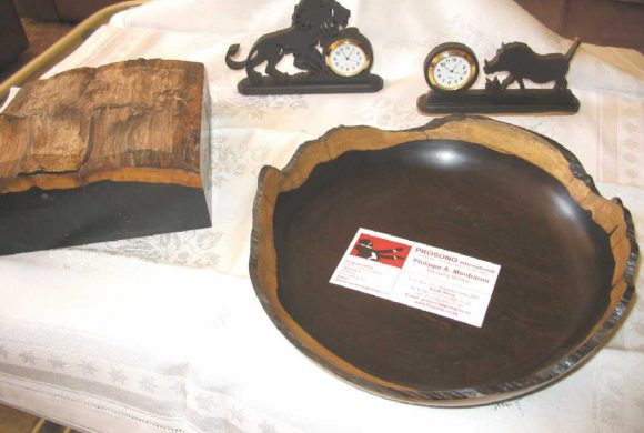 Top of the log of African Blackwood as bowl blank _1