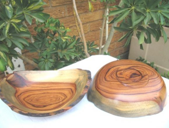 Turnery Mopane bowls