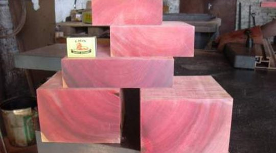 Turnery Pink Ivory bowl blanks