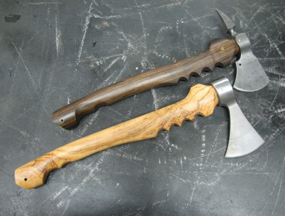 Wild Olive an Black chacate Axes