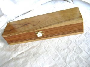 African olive wood jewellery box