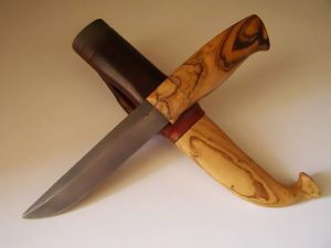 African olive wood knives