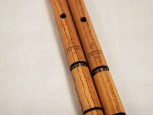African olive wood flute