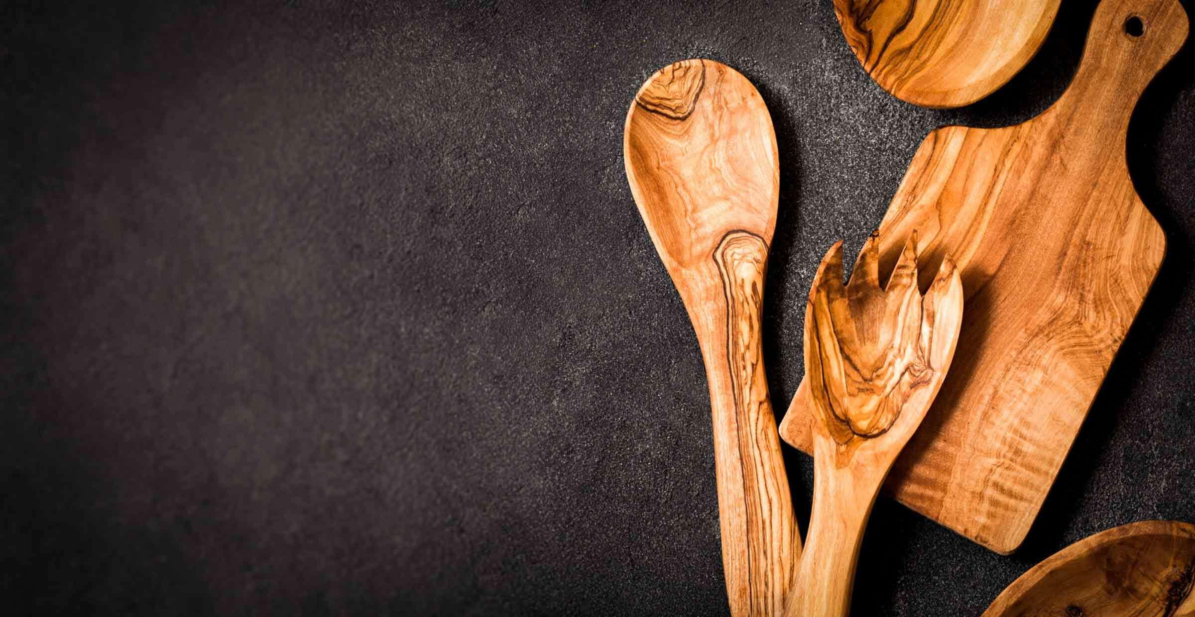 African olive wood utensils