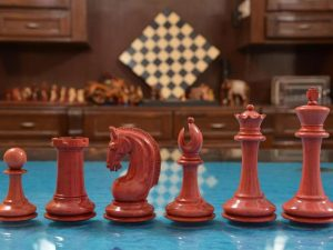 red ivory chess parts