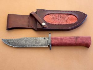 red ivory knife handle