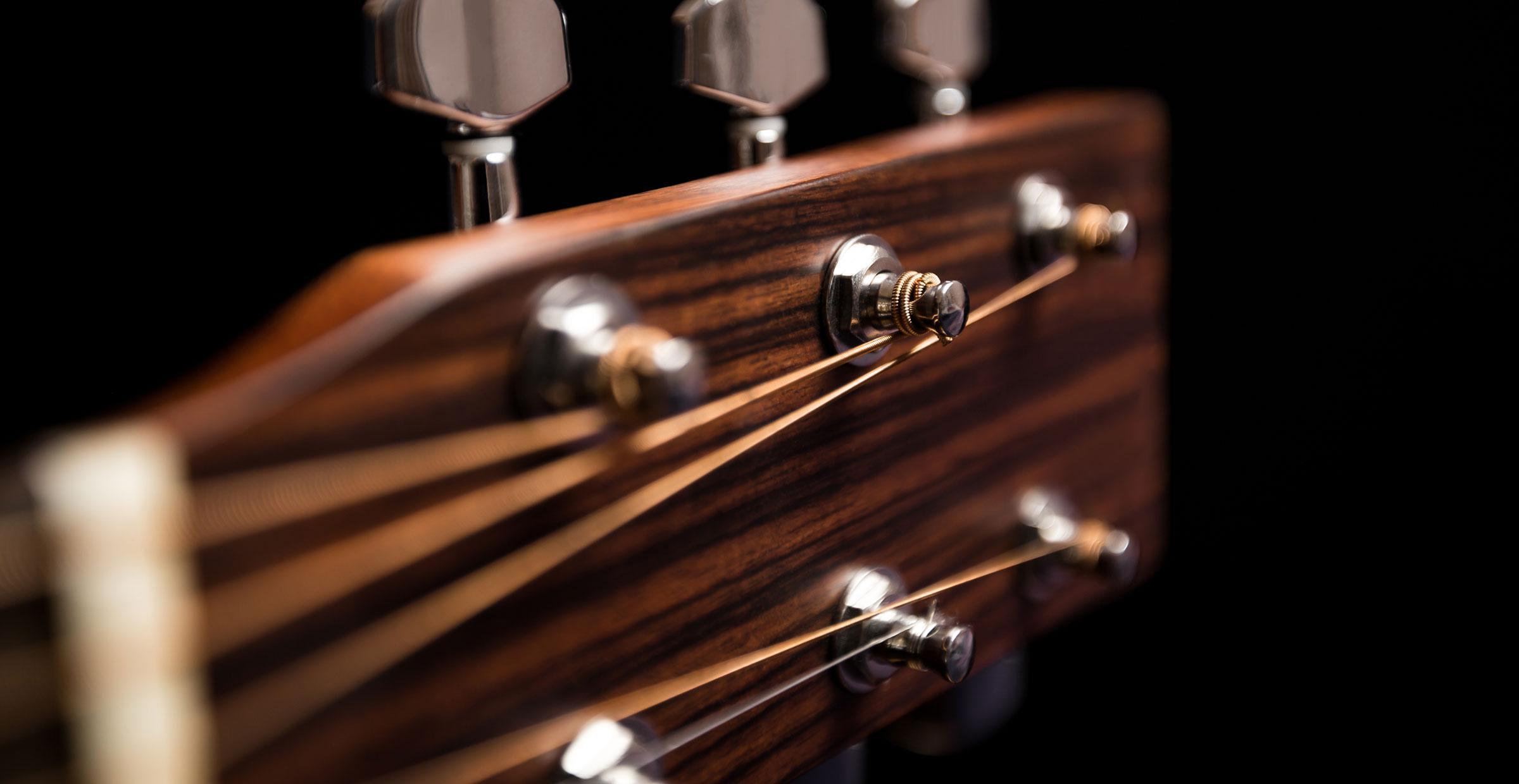Cocobolo wood guitar