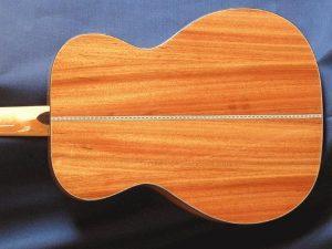 mopane guitar back