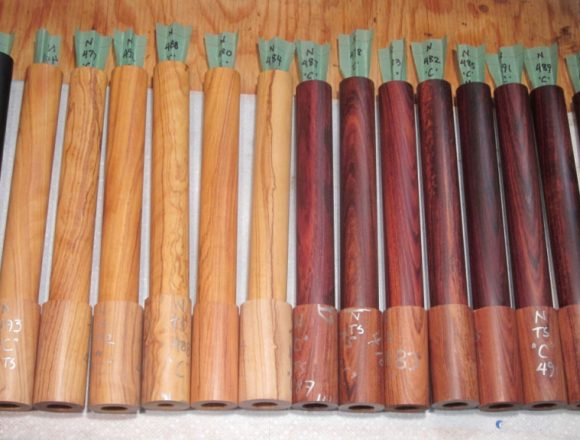 African blackwood mopane and wild olive blanks for flutes