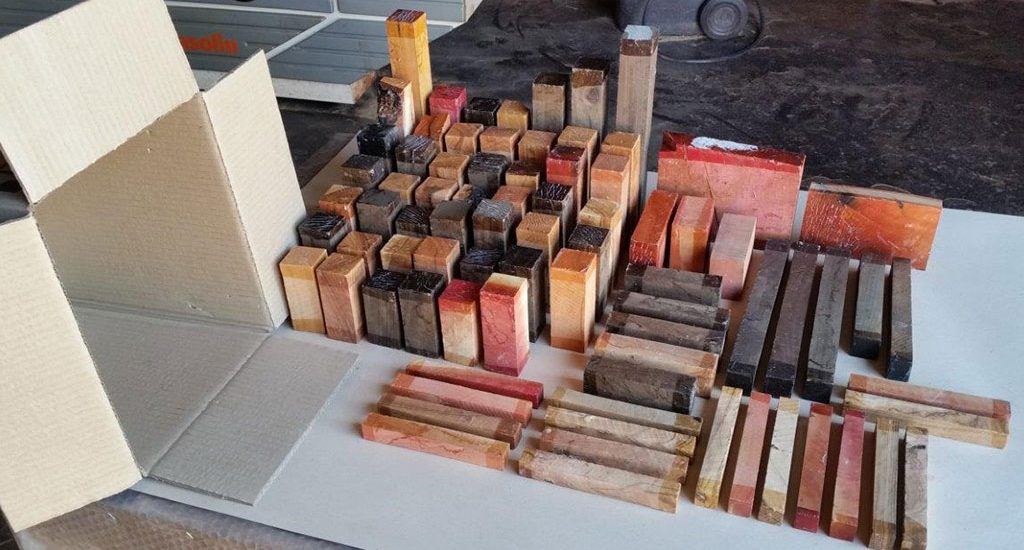 Hardwood combo packs for carvers