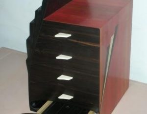ebony and red ivory furniture