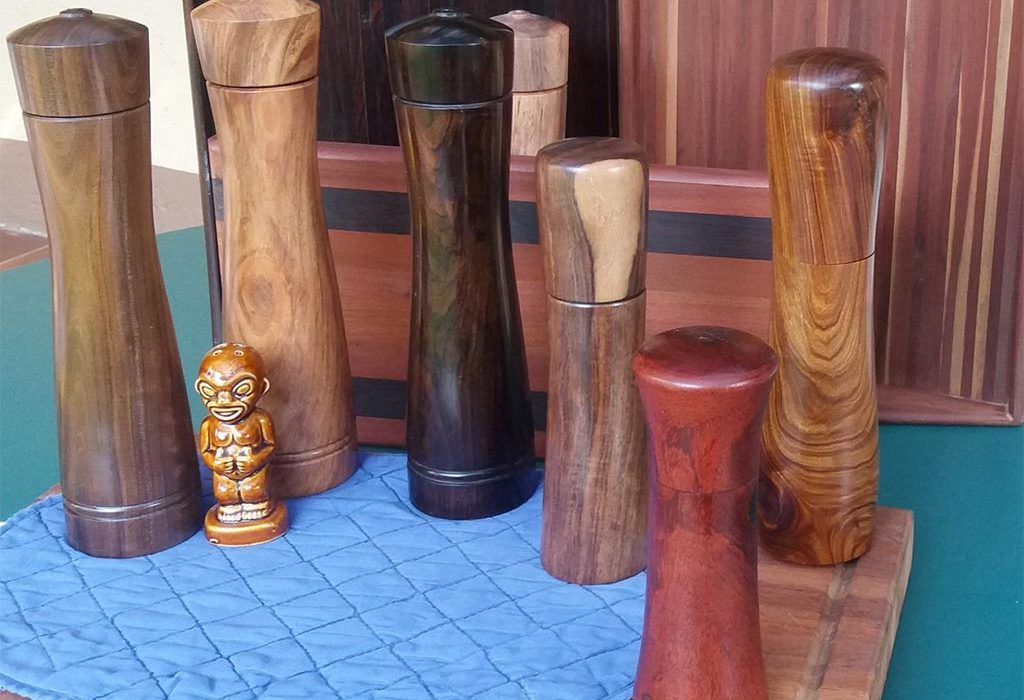 peppermills made from exotic hardwoods