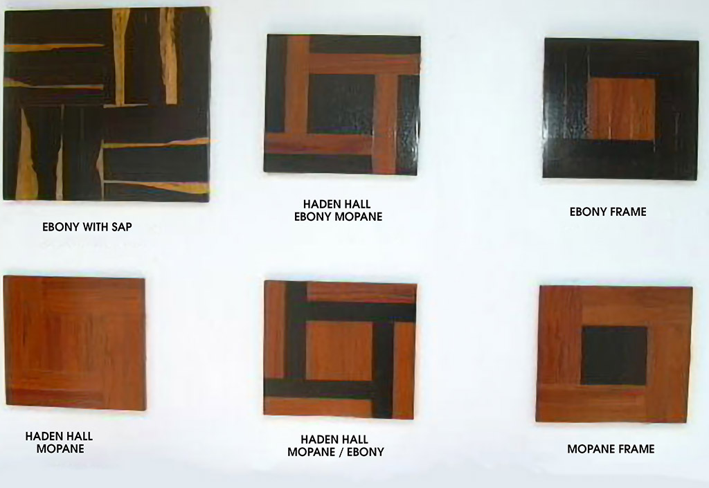 Parquetry patterns for wood floors